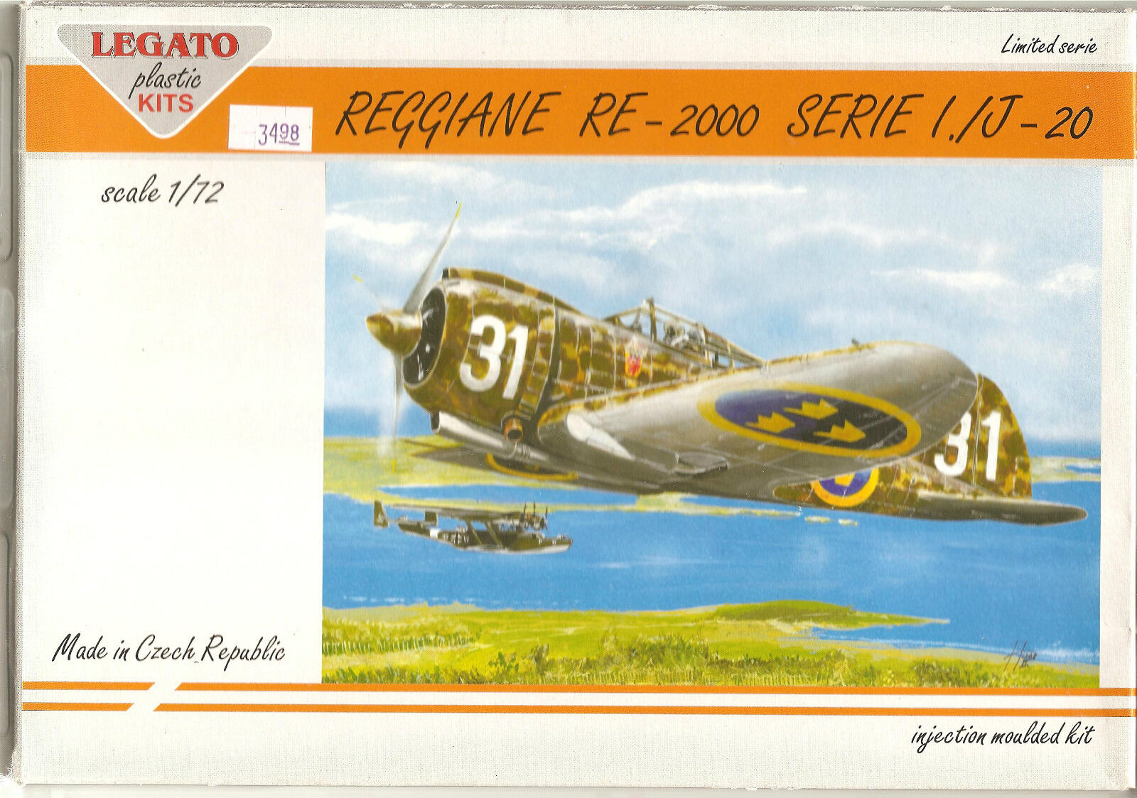 Legato  Reggiane  RE-2000 Serie 1. J-20   1 72   Kit No. 72001