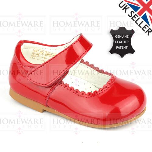 Le Ragazze Scarpe Mary Jane SPAGNOLI in Vera Pelle Verniciata DESIGNER BABY Scarpe UK2 UK12