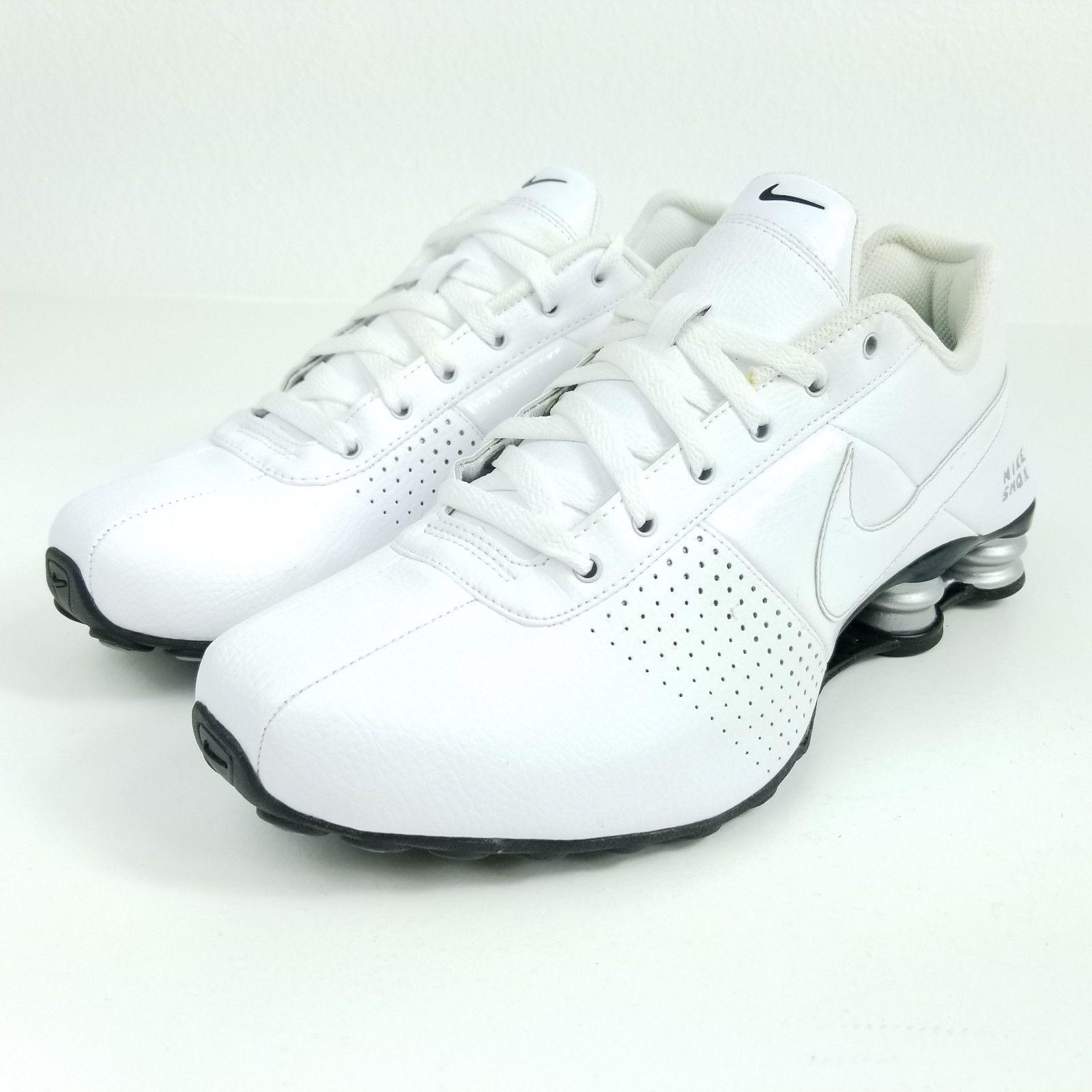 Mens Nike Shox Deliver Premium Sneakers 317547-109 New, All White Silver 317547-109 Sneakers sku AA f9da28