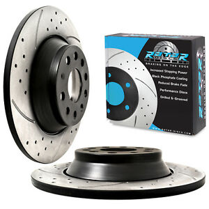 REAR-GROOVED-DRILLED-300mm-BRAKE-DISCS-FOR-VW-GOLF-MK7-1-6-2-0-GTD-GTI-R-4MOTION