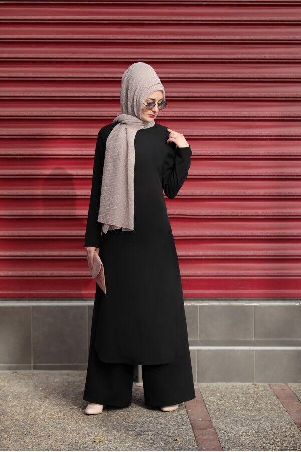 S-951Tesettür Ikili Takim- Zweiteiliges Outfit-Tunika& Hose -Hijab