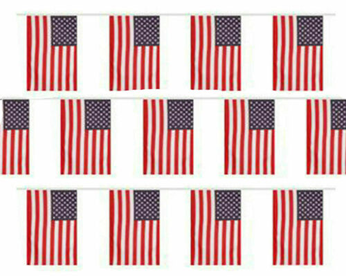 USA Bunting 20 Flag America 4th July United States 10M33FT American Stars Flags