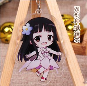 Hot Japan Anime Sword Art Online Yui Acrylic Key Ring Pendant Keychain Gift