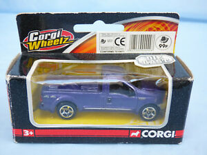 CORGI WHEELZ VIOLA METALLIZZATO 1:64 FORD F-250 Super Duty Pick Up Tuck Diecast giocattolo
