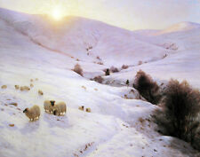 Farquharson Joseph And The Sun Peeped O'er Yon Southland Hills Canvas    #3260