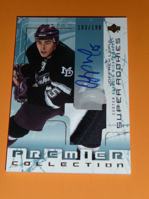 03-04 UD Premier Joffrey Lupul Auto Patch 2clr Super Rookie 193/199 RC