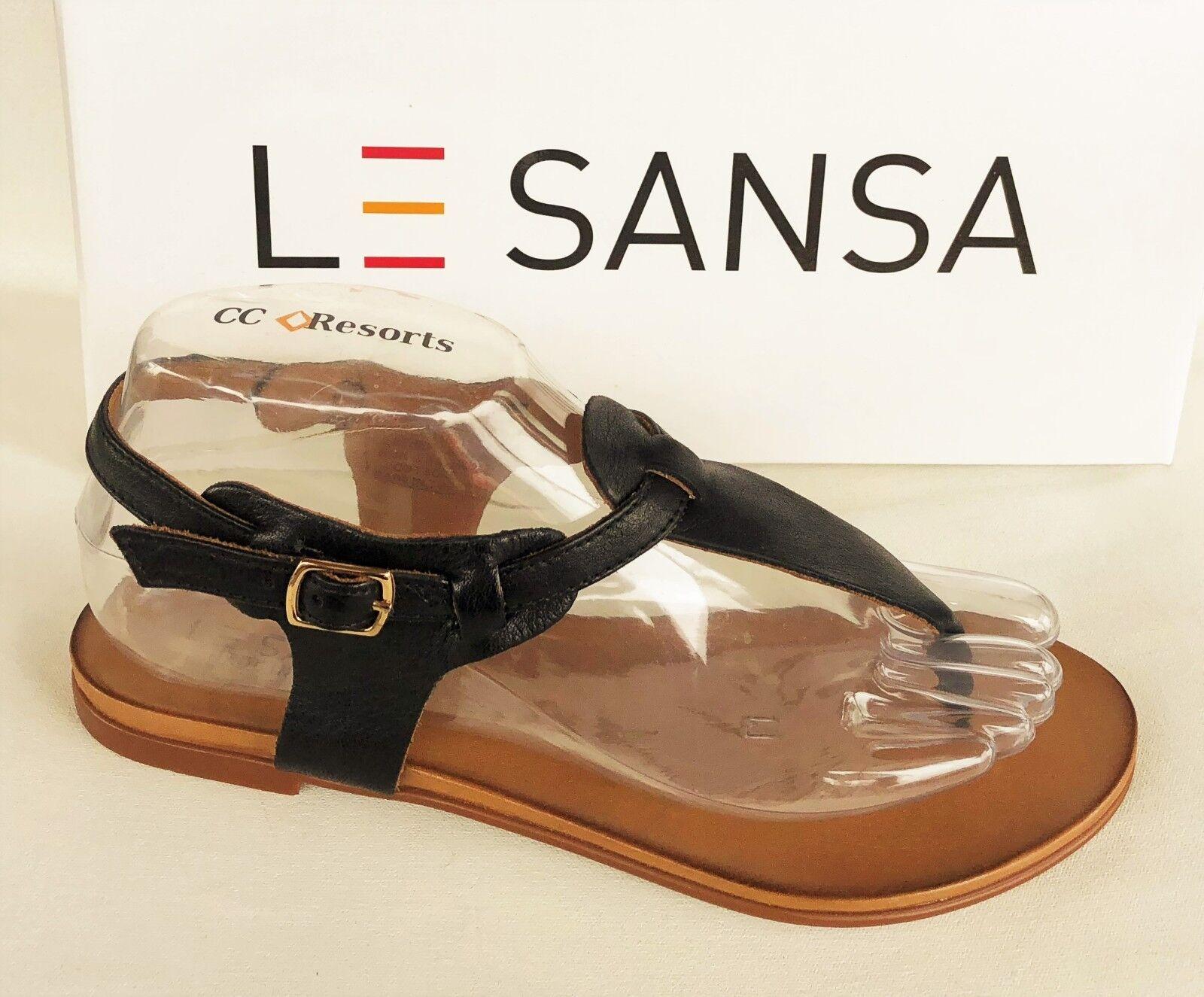 Läderplatta sandaler - Le Sansa av CC CC CC Resorts skor - Lavish  spännande kampanjer
