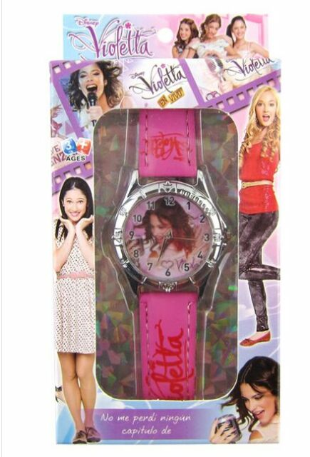 free shipping Violetta girl Children Watch With Box Cheap Kids Cartoon Watches