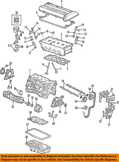 Oem Honda Crv Rear Main Seal Cover Dohc B20b B20z Ls Vtec