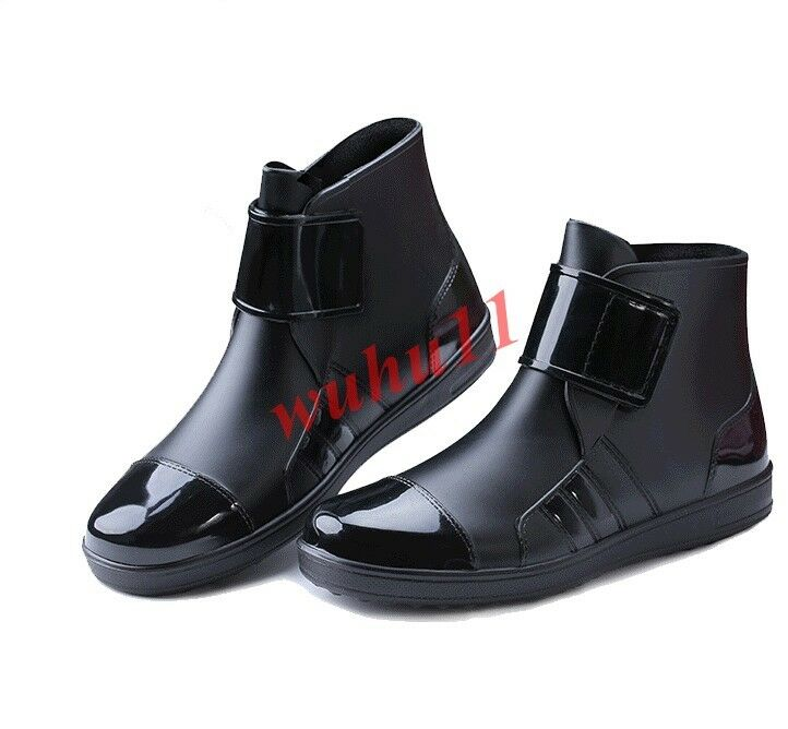 367a1634259 Mens Vogue Rain Ankle Boots Waterproof Pull On Leisure Casual Casual Casual  Pu Leather Korean c81b9a