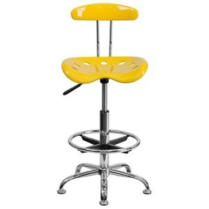 Swell Details About Adjustable Work Shop Stool Foot Rest Tractor Seat Bar Bench Swivel Chair Yellow Andrewgaddart Wooden Chair Designs For Living Room Andrewgaddartcom