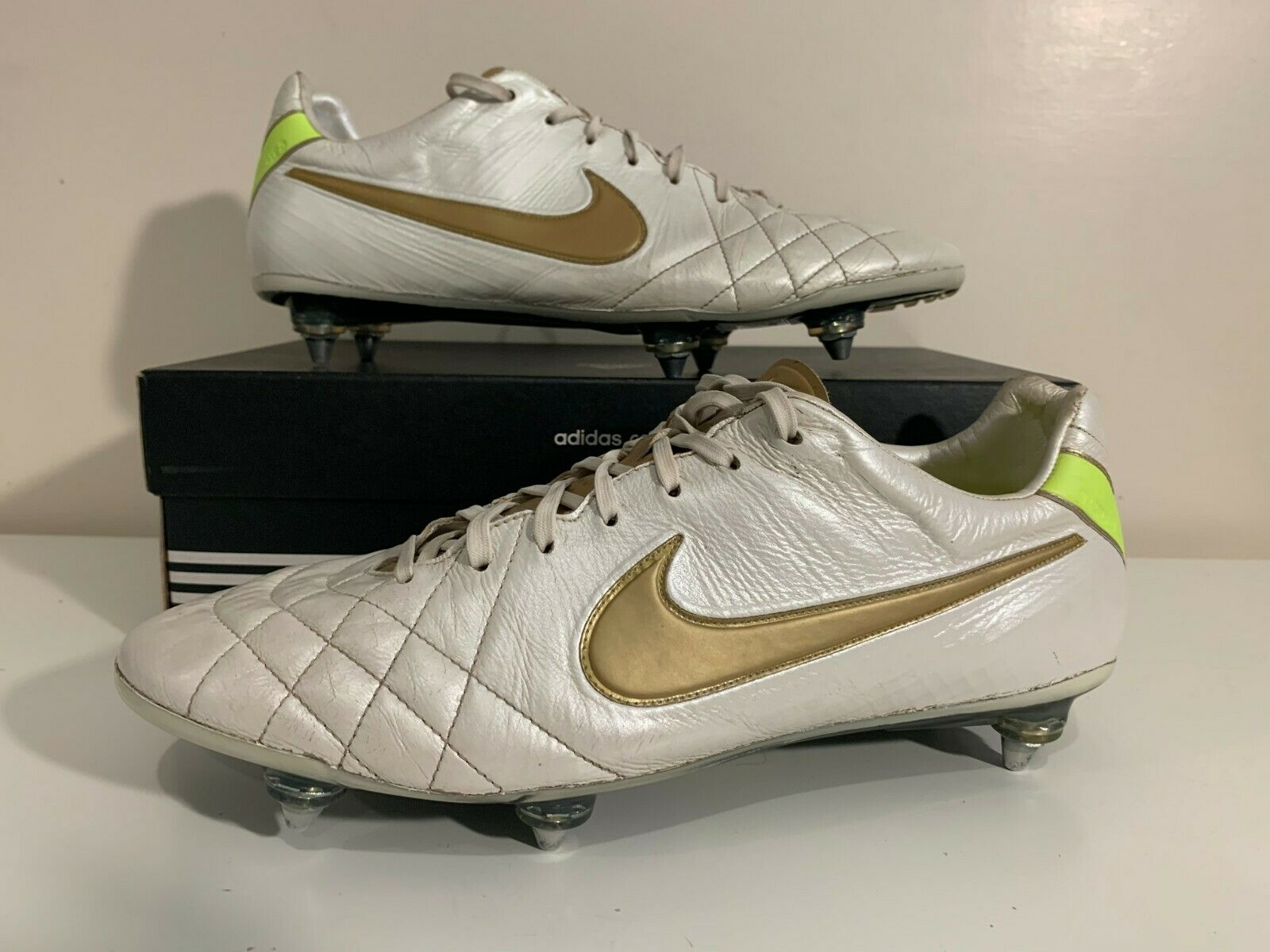Nike Tiempo Legend Elite blancoo T90 Fútbol Zapatos 10,5 11,5 45,5