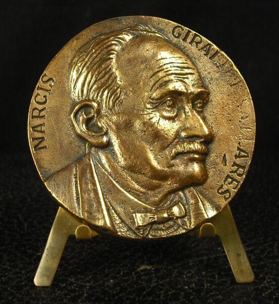 100% De Qualité Médaille Marcis Marcos Giralt Agrupacio 179 G 60 Mm Medal 铜牌