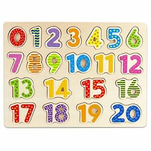 Professor-Poplar-039-s-Wooden-Numbers-123-Puzzle-Board-Sensory-amp-Tactile-Learning