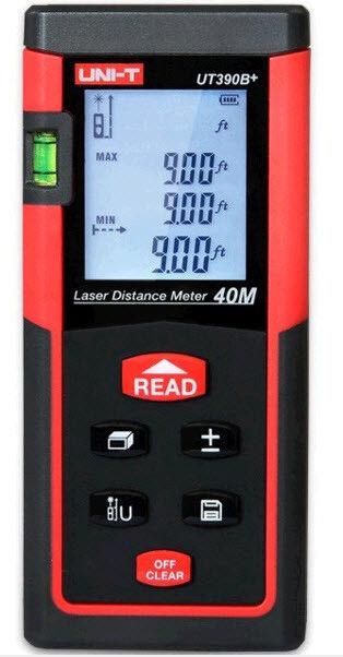 UNI-T ut390b + 40m ottico palmare distanza telemetro metro laser + formule