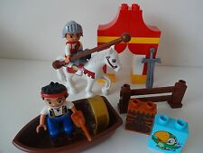 Lego Duplo - KNIGHT / SOLDIER & Horse + PIRATE & Boat - Ideal 4 Castle, Palace