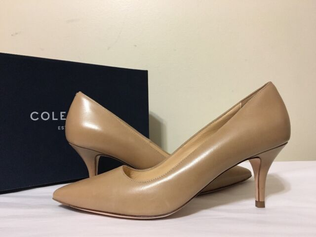 0b2d00fe94 Cole Haan Bradshaw Pump 65 Maple Sugar Leather Women's Heels Pumps 7 C  (wide)