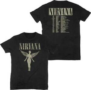 f2101400e61dc Nirvana In Utero Kurt Cobain Tour Music Rock Band Adult Mens T Tee ...
