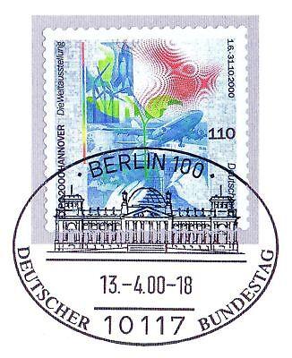 Brd 2000: Expo 2000! Selbstklebende Nr. 2112 Mit Berliner Sonderstempel! 1a 1906 Weich Und Rutschhemmend