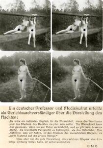 Charmant 18 Intéressantes Acte-stéréo Photos, Jolie Nue Nude Filles Pour 1930, Lot 1-afficher Le Titre D'origine