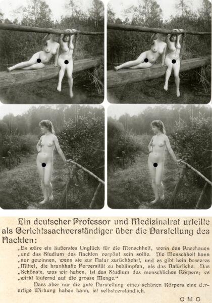 18 Interessante Akt - Stereofotos, Hübsche Nackte Nude Mädels Um 1930, Lot 1