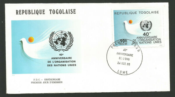 Fdc 1er Jour République Togolaise 1985 Lomé Nations Unies /l1723 Apparence EsthéTique