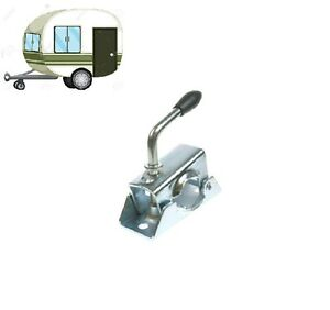 MAYPOLE-Caravan-Trailer-Jockey-Wheel-Clamp-heavy-duty-34mm-Split-Clamp-MP222
