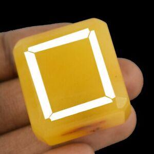 AAA Quality Natural Octagon Cut Yellow Sapphire 213 Carat Madagascar Gemstone