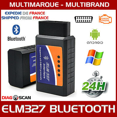 INTERFACE ELM 327 BLUETOOTH OBD2 ODB2 DIAGNOSTIQUE DIAG SCAN Torque Android