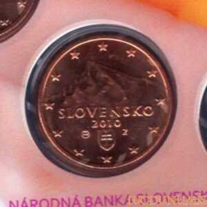 Slovaquie 2010 5 Centimes BU FDC 25000 exemplaires Provenant du coffret BU RARE