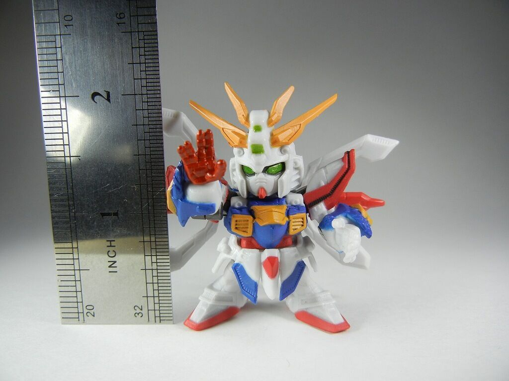 "G-Gun/"" Metalic color SD Gashapon Soldier Dash SP01 /""GF13-017NJ II Burning Gundam"