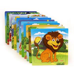 Tiere Block Puzzle Spielzeug Spiel 3D-Puzzles Puzzles Puzzles aus Holz