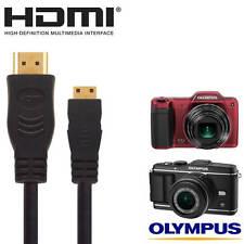 Olympus E-5, E-P3, SZ-15, VH-520 Cámara HDMI Mini Tv Monitor 5m de largo cable de plomo