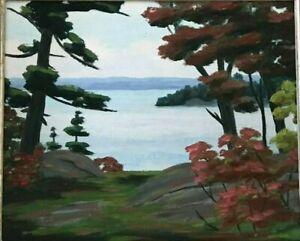 Oaks-Windermere-Lake-Rousseau-Original-Oil-Painting-by-Cdn-Artist-Fraser-Thomson