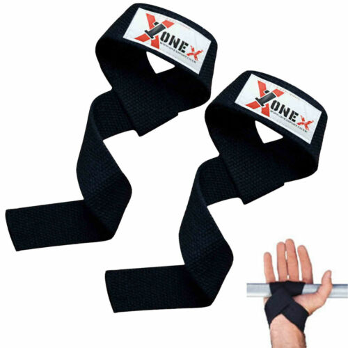 OneX Weight Lifting Gym Grips Pads Workout Hand Training Bar Straps Wrap Gloves