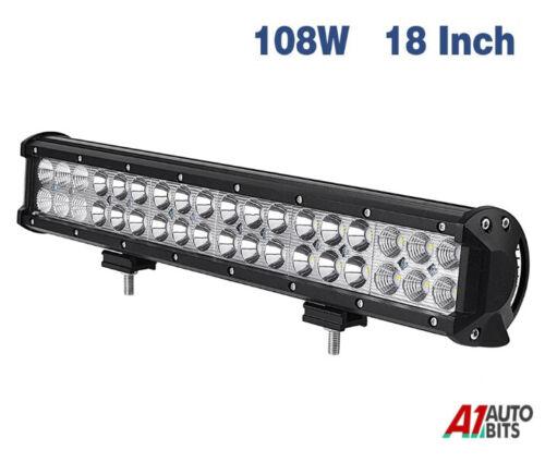18 Inch 108W Spot Flood Combo Beam Led Work Light Bar Backup Reverse Offroad 4x4