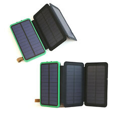 300000mAh External Battery Charger 3 Solar Panel Power Bank For Mobile Phones US