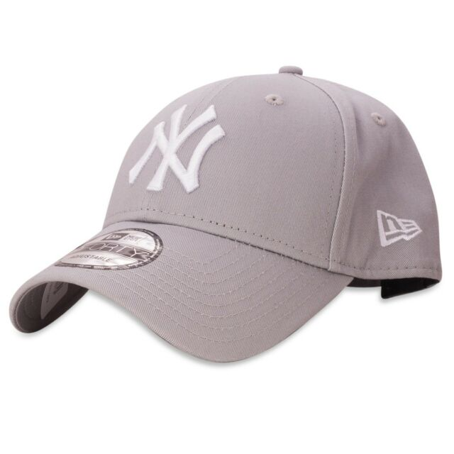 NEW ERA MENS 9FORTY BASEBALL CAP.GENUINE NEW YORK YANKEES GREY ADJUSTABLE  HAT 40 1a5cbc4cee6