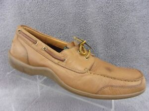 0f4e14f698d8 Cole Haan Series G men s tan leather boat loafer slip on size 11.5M ...