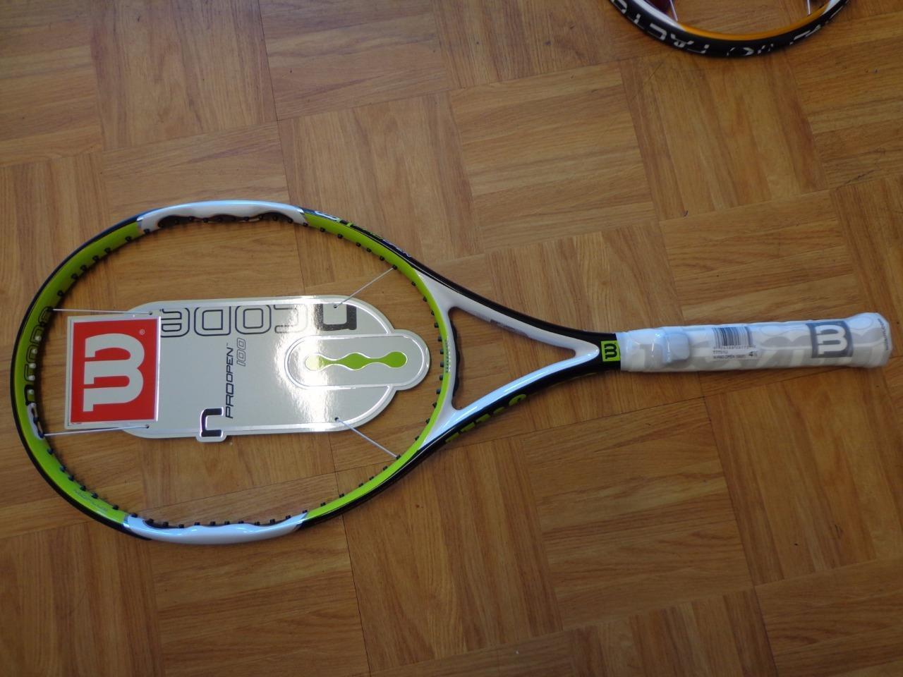 NEUF RARE Wilson NCode N Pro Open 100 Head 4 1 2 grip raquette de tennis