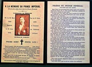 Memento-du-Prince-Imperial-Napoleon-IV-Avec-priere-140e-Anniversaire-Souvenir