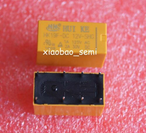 10PCS HK19F-DC 12V-SHG 12VDC Original Power Relay 8Pins
