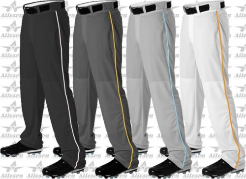 Alleson Athletic Youth Boys Open Bottom Baseball Pants W// Custom Piping Braid