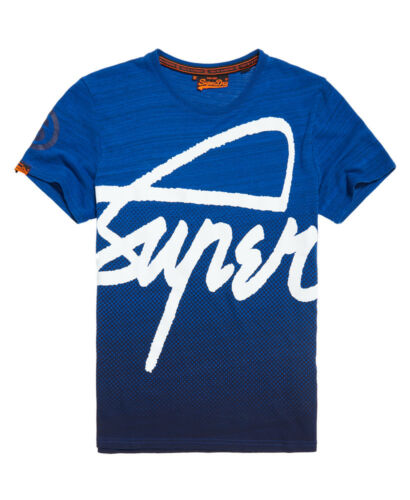 Space New Superdry dipinta Maglietta Blue Crew Dye Blast Space xp0PqPw