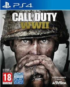 Call-of-Duty-World-War-II-2-ww2-ps4-neuwertig-Super-fast-gleichen-Tag-Kostenlose-Lieferung