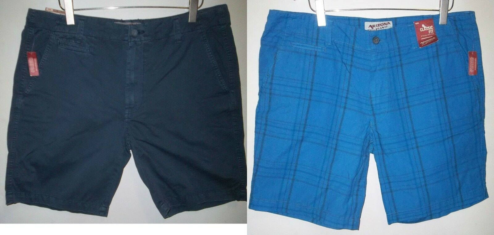 2 PAIR NEW WITH TAGS NWT MENS ARIZONA SHORTS WAIST SIZE 40 W40