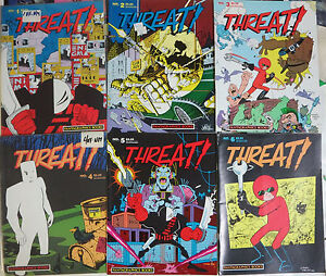 Threat-Fantagraphics-1986-1-10-Complete-BW-Indie-Comix-Anthology-Bob-Enigma