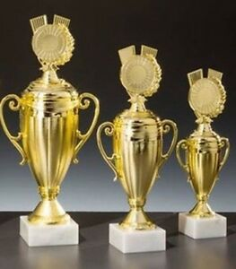 3 Sport-Pokale mit Wunschemblem und Gravur (56040-3)