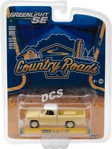 1962-Dodge-D-100-Pick-Up-Tramonto-Giallo-Paese-Strade-15-1-64-Greenlight-29850-A