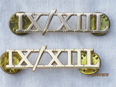 Insignes D'Épaule Anodisé Aluminium Factory Direct Selling Price 9th/12th Royal Lancers Paire Gb